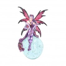 Perpetual Dreams 23.5cm Pink Fairy and Crystal Ball Figurine