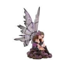 Heather 15cm Dark Fairy and Raven Figurine