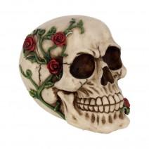 Rose From Beyond 15cm Gothic Rose Vine Covered Skull Figurine