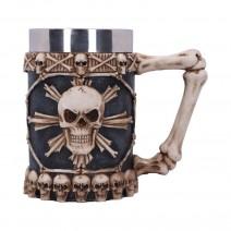 Large Tankard of Skulls Bone Skull Mug