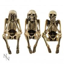Three Wise Skeletons Figurine Skeleton Ornaments