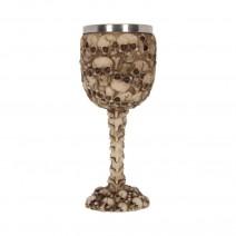Screaming Soul Skull Printed Goblet Wine Glass 16.3cm