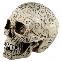 Skull Box Engraved With Celtic Patterns 20cm
