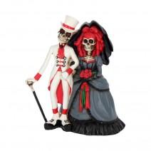 Forever By Your Side Figurine Skeleton Wedding Bride Groom Valentine