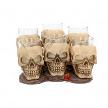 Six Shooter Skulls Skull Shot Glass Set