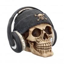 Dead Beat Skull (Grey) 17cm