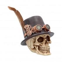 The Aristocrat steampunk alternative skull figurine