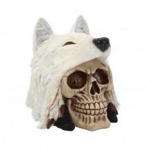 Night Wolf Skull 15.6cm