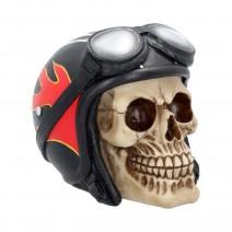 Hell Fire Biker Flame Helmet Skull Ornament