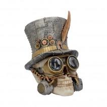 Count Archibald Steampunk Top Hat Skull 19.5cm