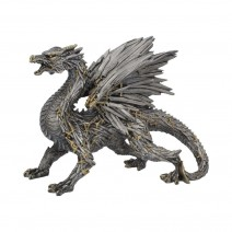 Swordwing Dragon Figure Forged From The Blades Of Enemies