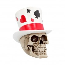 Casino Jack Lucky Top Hat Skull 20cm
