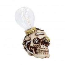 Bright Idea Light up Steampunk Skull Ornament 17cm