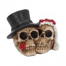 Together Forever Wedding Skulls 16cm
