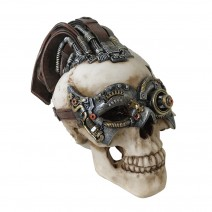 Dreadlock Device Steampunk Skull 18.5cm (Small)