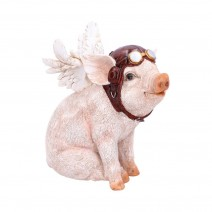 When Pigs Fly Winged Pilot Pig Ornament