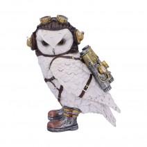 Steampunk The Aviator Pilot Snowy Owl Figurine