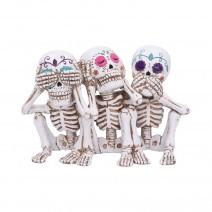 Three Wise Calaveras Skeleton Figurine 20.3cm