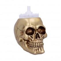 Brush with Death Golden Skull Toilet Brush Holder