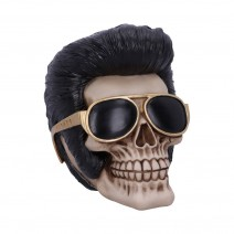 Uh Huh The King Elvis Skull Figurine