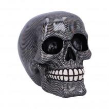 Holographic Silver Fishnet Skull Ornament