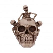 Breaking Free Skeleton Emerging from Skull Ornament 17.7cm