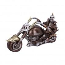 Wheels of Steel 29cm Steampunk Motorcycle Skeleton Figurine.