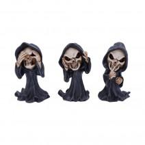 Three Wise Reapers 11cm See No Hear No Speak No Evil Cartoon Grim Reapers