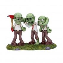 Three Wise Zombies Horror Undead Creature Figurine