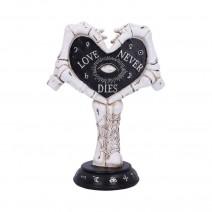 Love Never Dies Skeleton Hand Heart Figurine