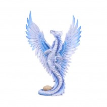 Anne Stokes Adult Silver Dragon 11.5cm