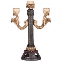 Triple Skull and Spine Candlestick