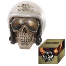 Gruesome Skull with Helmet and Sun Glasses