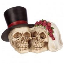 Bride and Groom Skull Head