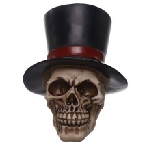Gruesome Skull Groom with Top Hat