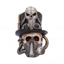 Steampunk Breathe Easy Venetian Mask Skull