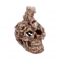 Rococo Design Carved Skull Figurine