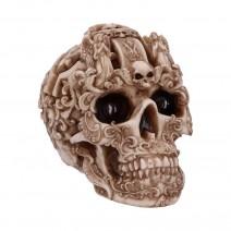 Gothic Design Carved Skull Figurine