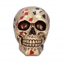 Dead Mans Hand Golden Playing Card Skull