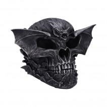 Spiral Dark Gothic Bat Skull Figurine