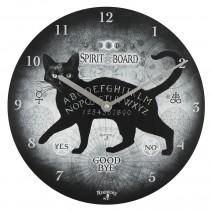 Alchemy Black Cat Spirit Board Clock