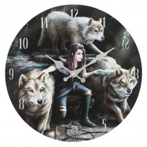 Power Of Three Wall Clock By Anne Stokes