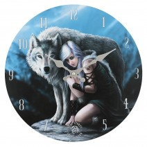 Protector Wall Clock By Anne Stokes