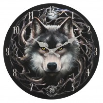 Night Forest Wall Clock by Anne Stokes