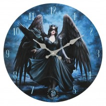 Raven Wall Clock by Anne Stokes