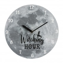 Witching Hour Moon MDF Clock