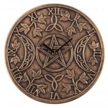 Terracotta Triple Moon Clock by Lisa Parker