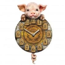 Piggin' Tickin' Pig Pendulum Clock