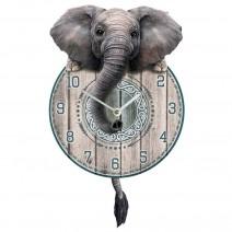 Trunkin' Tickin' Elephant Pendulum Clock