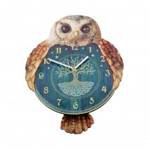 Hootin' Tickin' Owl Pendulum Clock